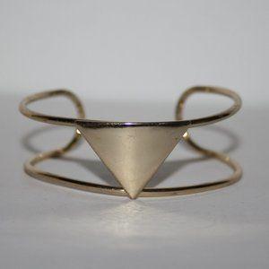 Gold geometrical cuff bracelet